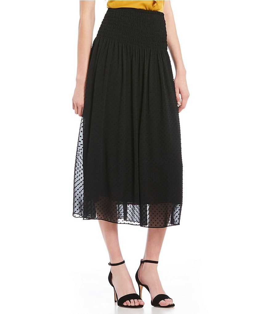 M.S.S.P. Dotted Woven Midi Skirt