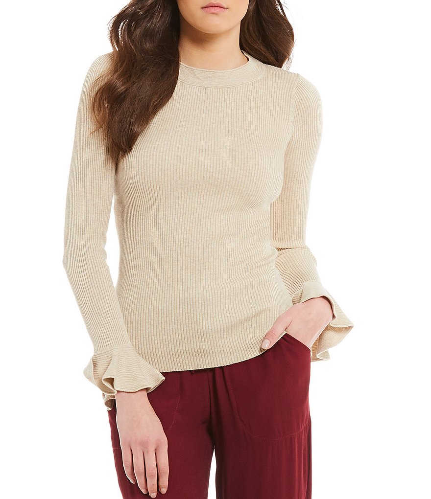 M.S.S.P. Flared Sleeve Knit Top