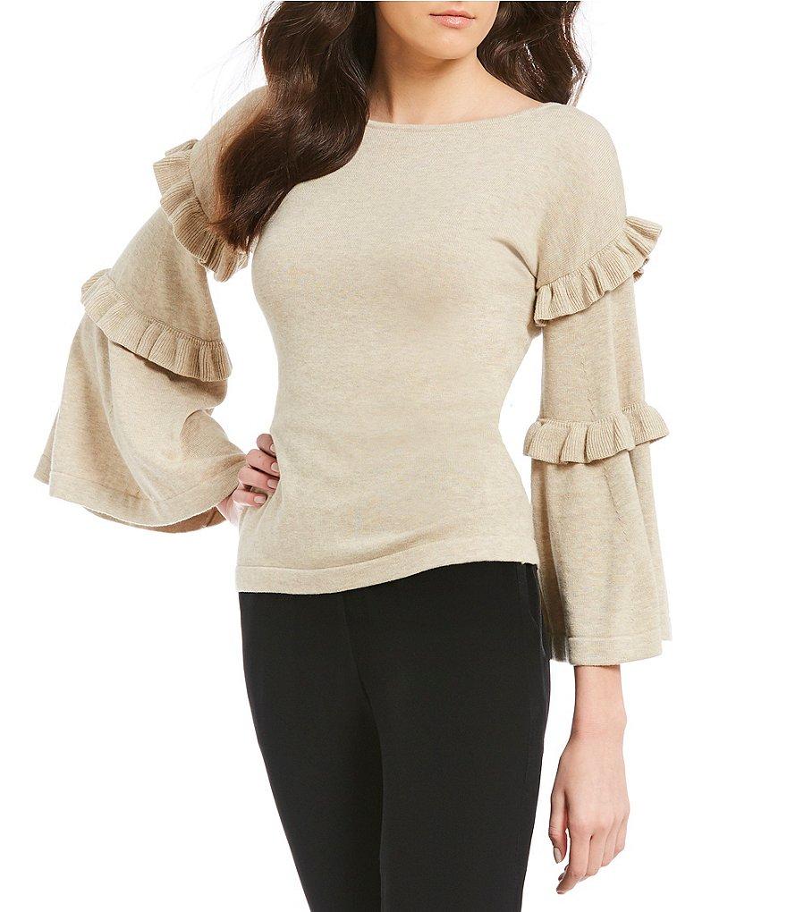 M.S.S.P. Ruffled Bell Sleeve Sweater