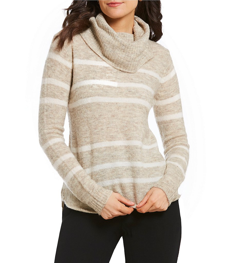 M.S.S.P. Striped Cowl Neck Sweater