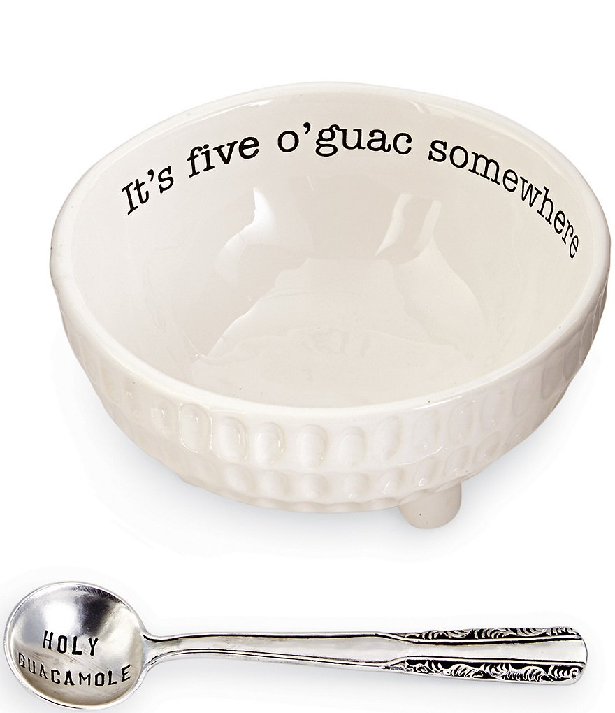 Mud Pie Circa Ceramic 2-Piece Guacamole Set