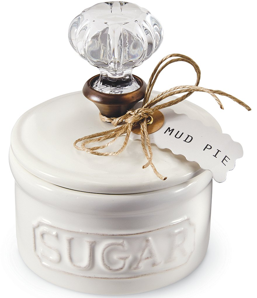 Mud Pie Circa Vintage Doorknob Sugar Bowl