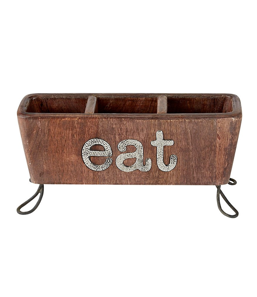 Mud Pie Eat Flatware Caddy