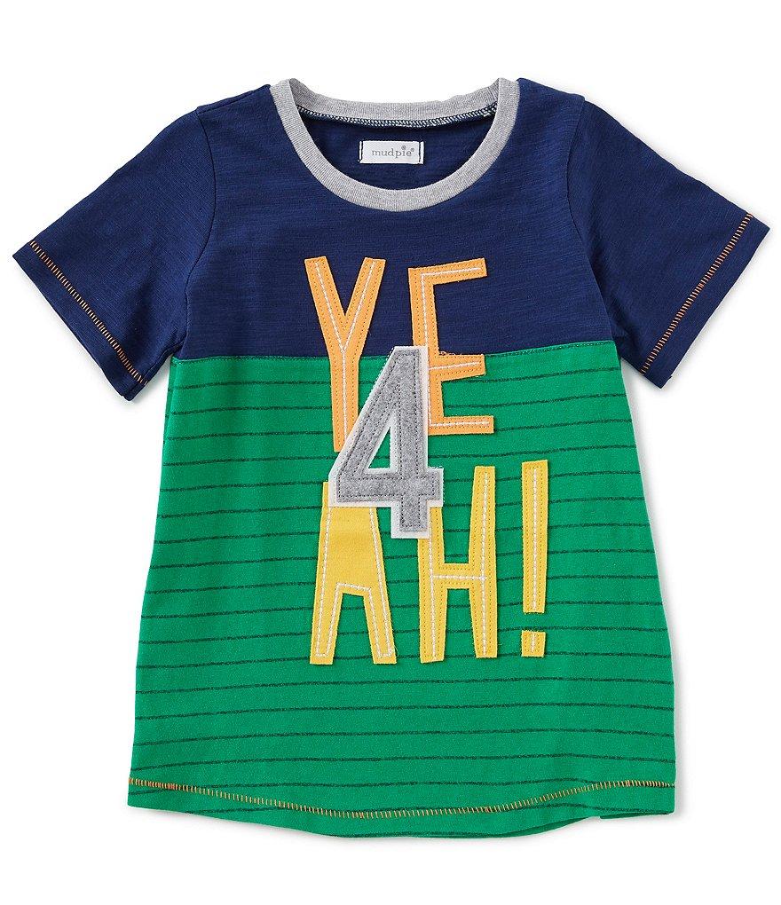 27e8a8eab Mud Pie Little Boys 4T Short-Sleeve 4th Birthday Yeah Tee