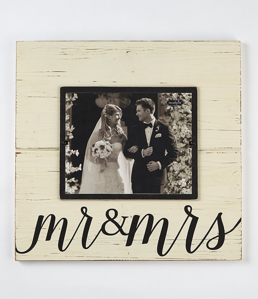 Mud Pie Wedding Collection Mr Amp Mrs Deluxe Frame Dillards