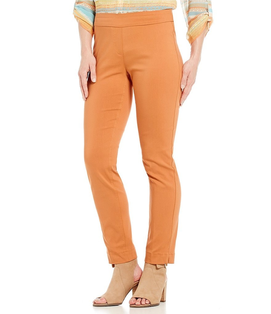 Multiples Wide-Band Pull-On Ankle Pants