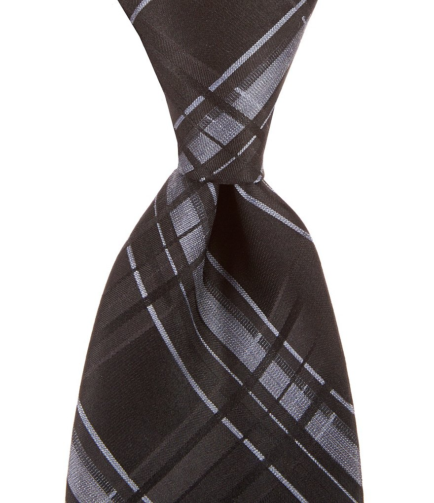 Murano Big & Tall Signal Plaid Traditional Tie