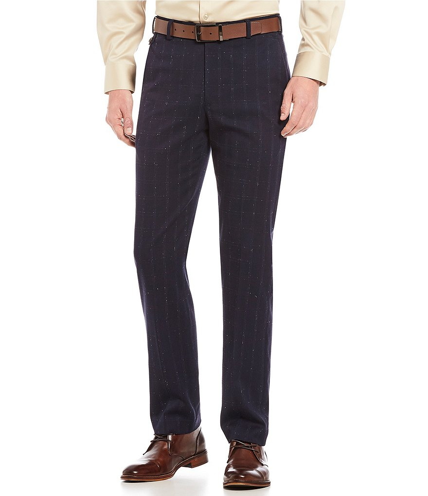 Murano Collezione Alex Flat-Front Windowpane Donngal Dress Pants