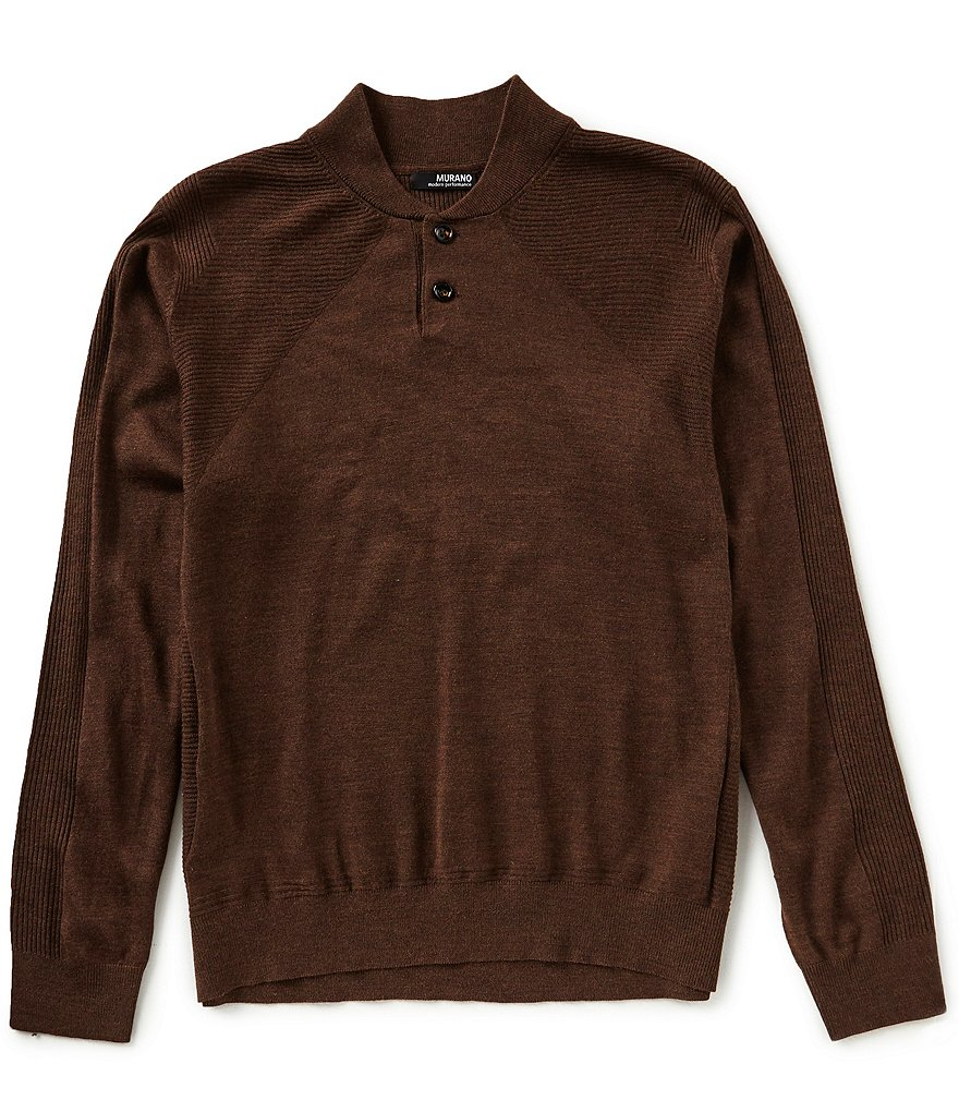 Murano Modern Performance Henley Sweater