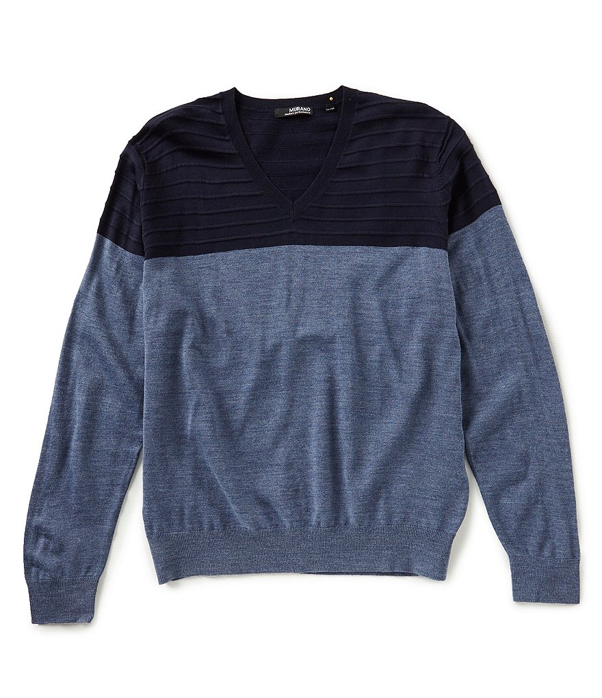 Murano Modern Performance Textured V-Neck Sweater