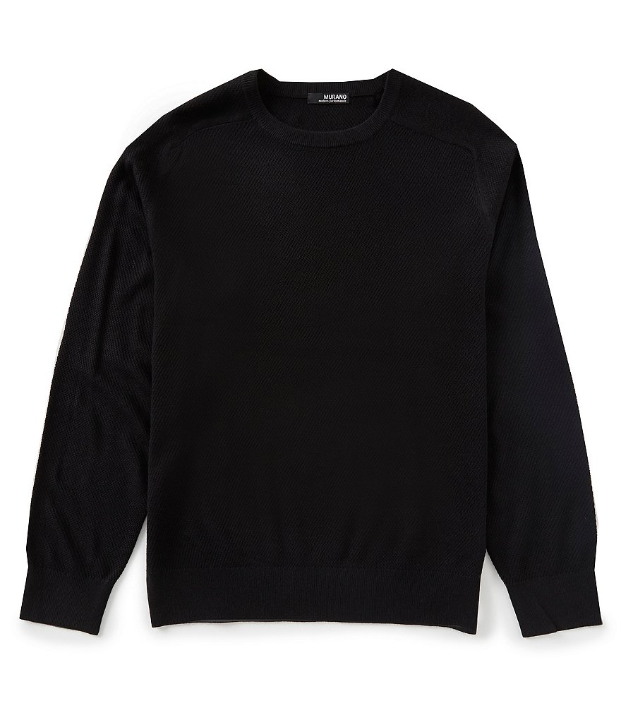 Murano Performance Textured Crew Sweater