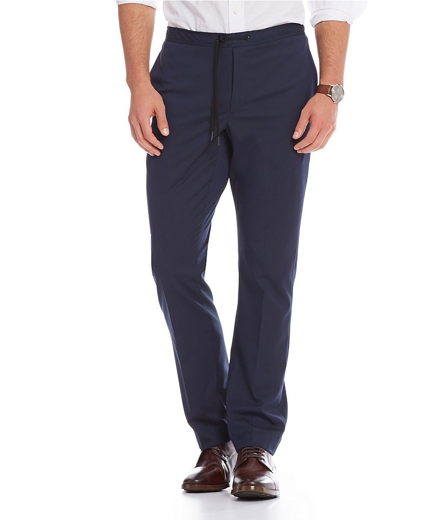 Murano San Francisco Collection Alex Slim-Fit Drawstring Flat Front Pants