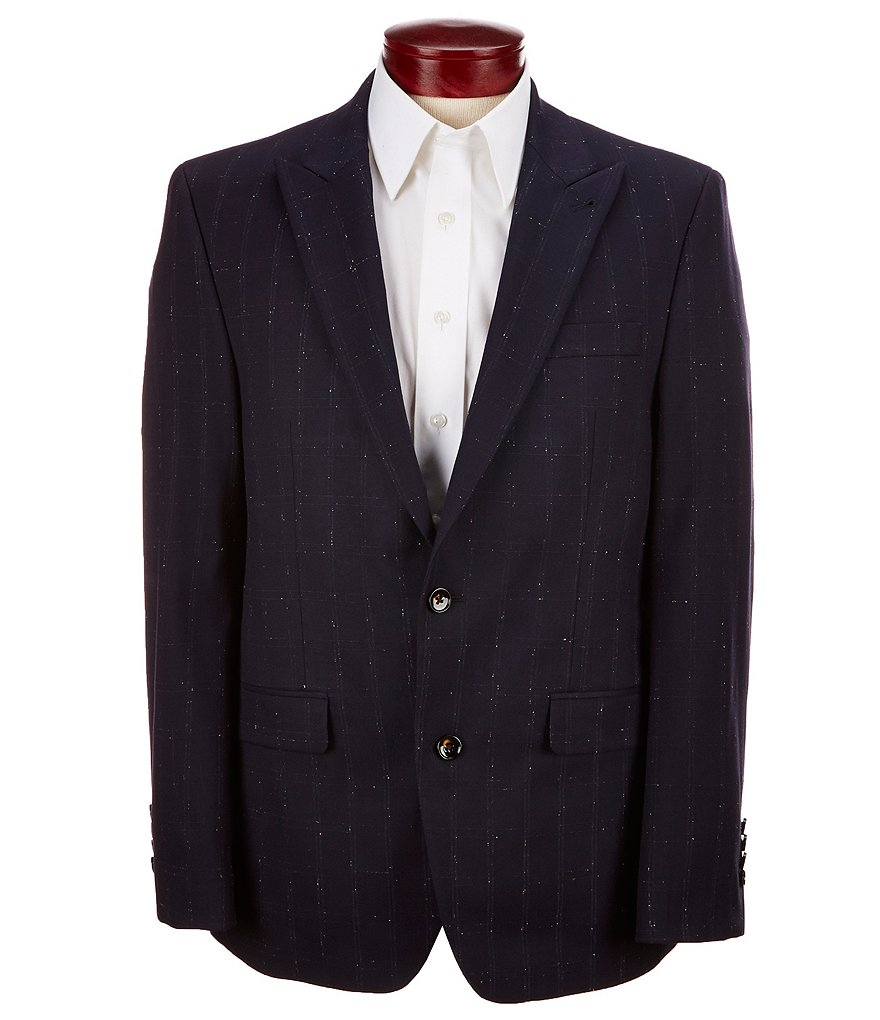 Murano Slim-Fit Windowpane Donnegal Blazer