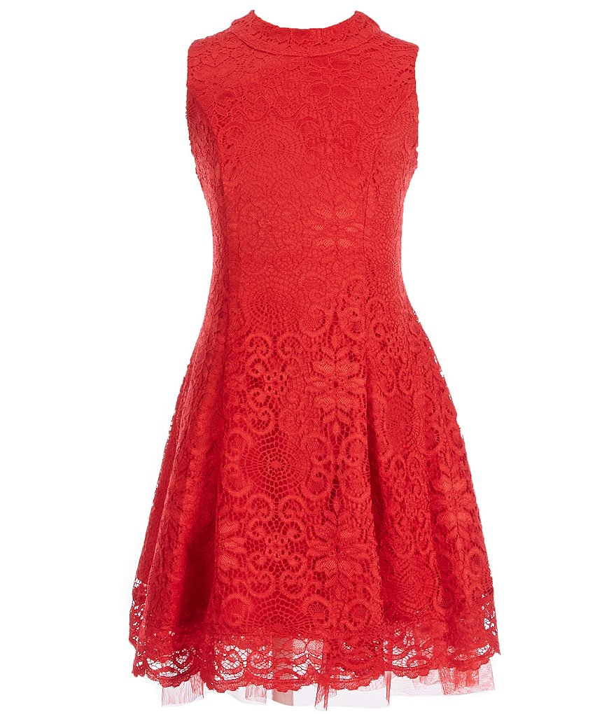 My Michelle Big Girls 7-16 Sleeveless Lace Dress