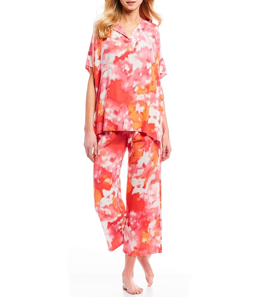 N by Natori Watercolor Challis Pajamas