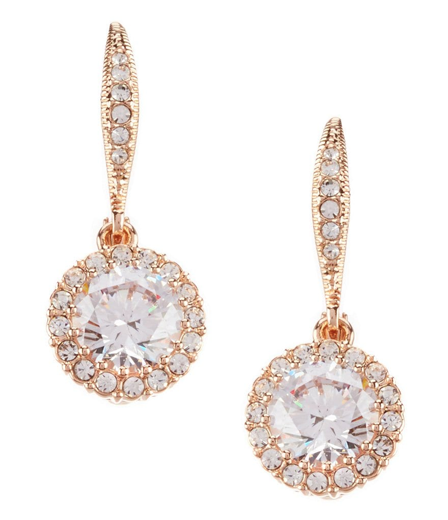 Nadri Cubic Zirconia Drop Statement Earrings
