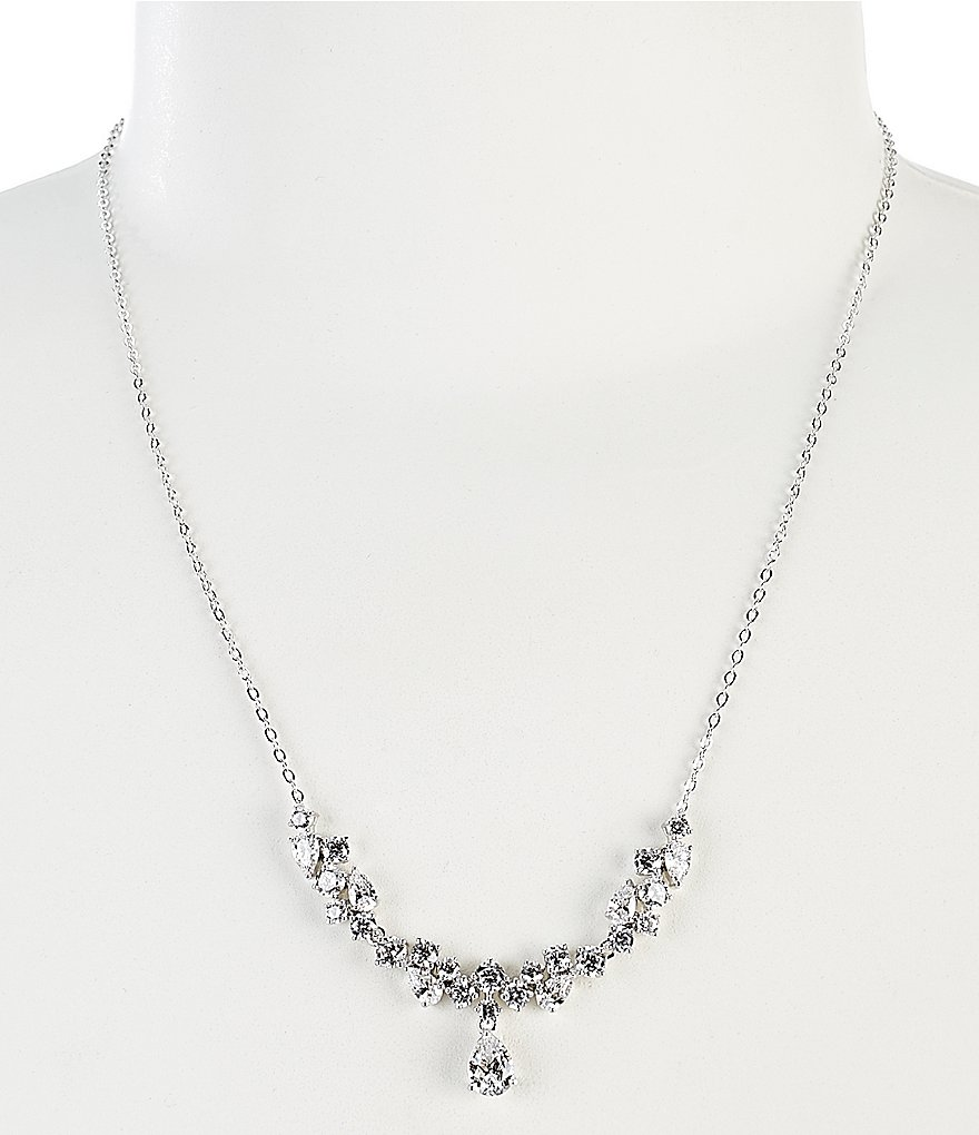 Nadri Diamond Dust Frontal Necklace