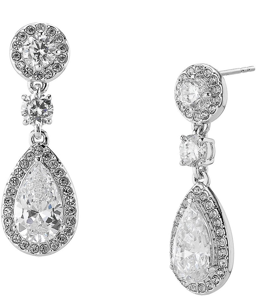 Nadri Multi Cubic Zirconia Drop Statement Earrings