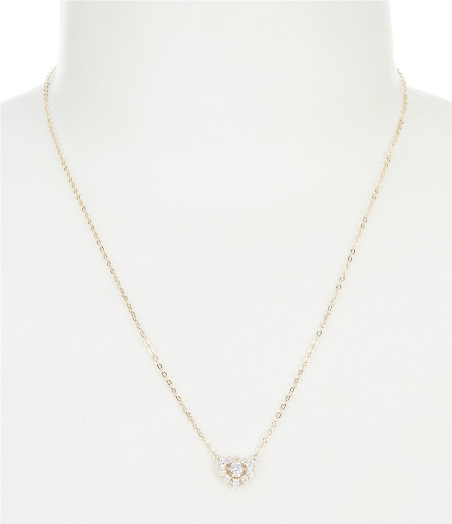 Nadri Pavé Heart Pendant Necklace