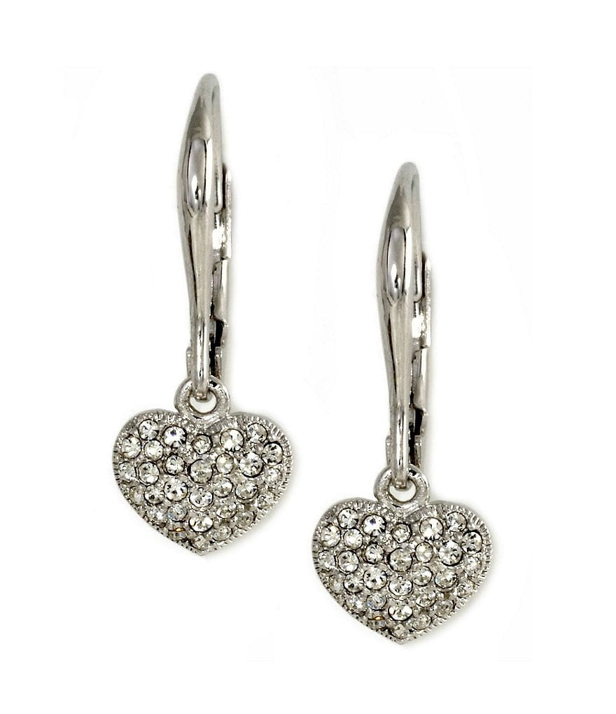 Nadri Pavé Heart Earrings