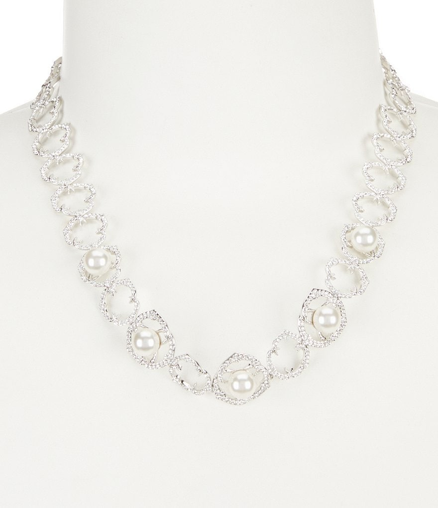 Nadri Rosaline Faux-Pearl & Faux-Crystal Collar Necklace