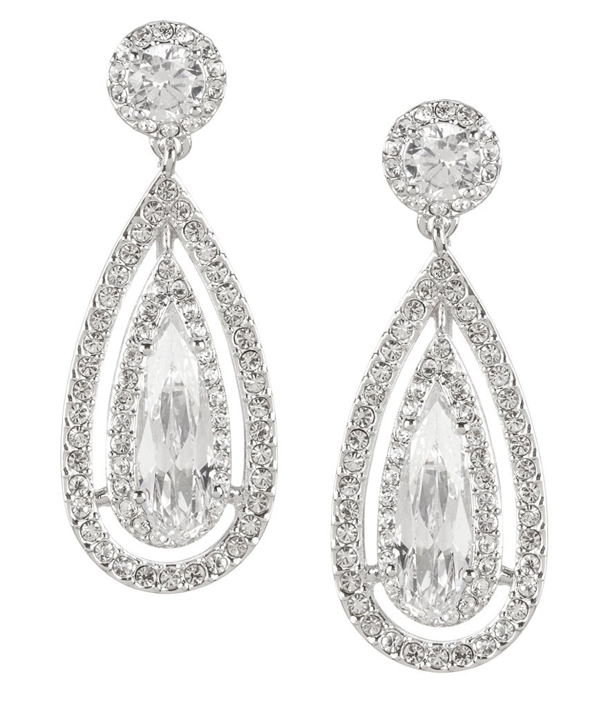 Nadri Teardrop Cubic Zirconia Statement Earrings