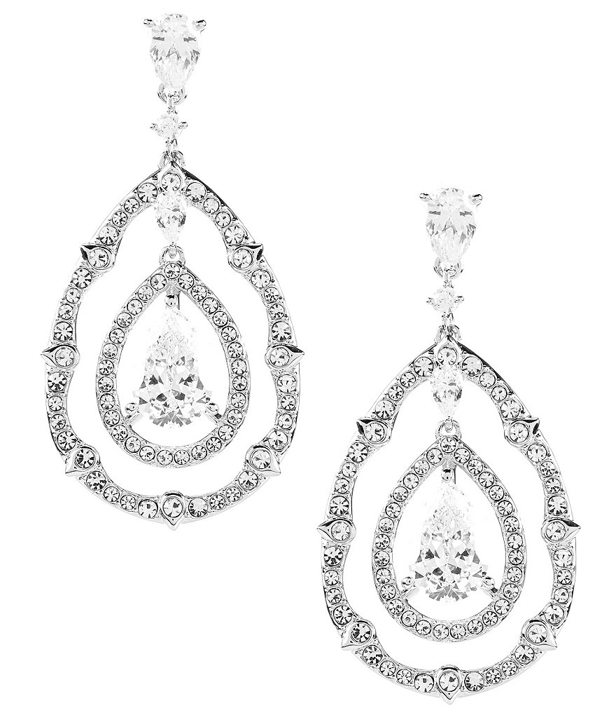 Nadri Victoria Cubic Zirconia Drop Statement Earrings