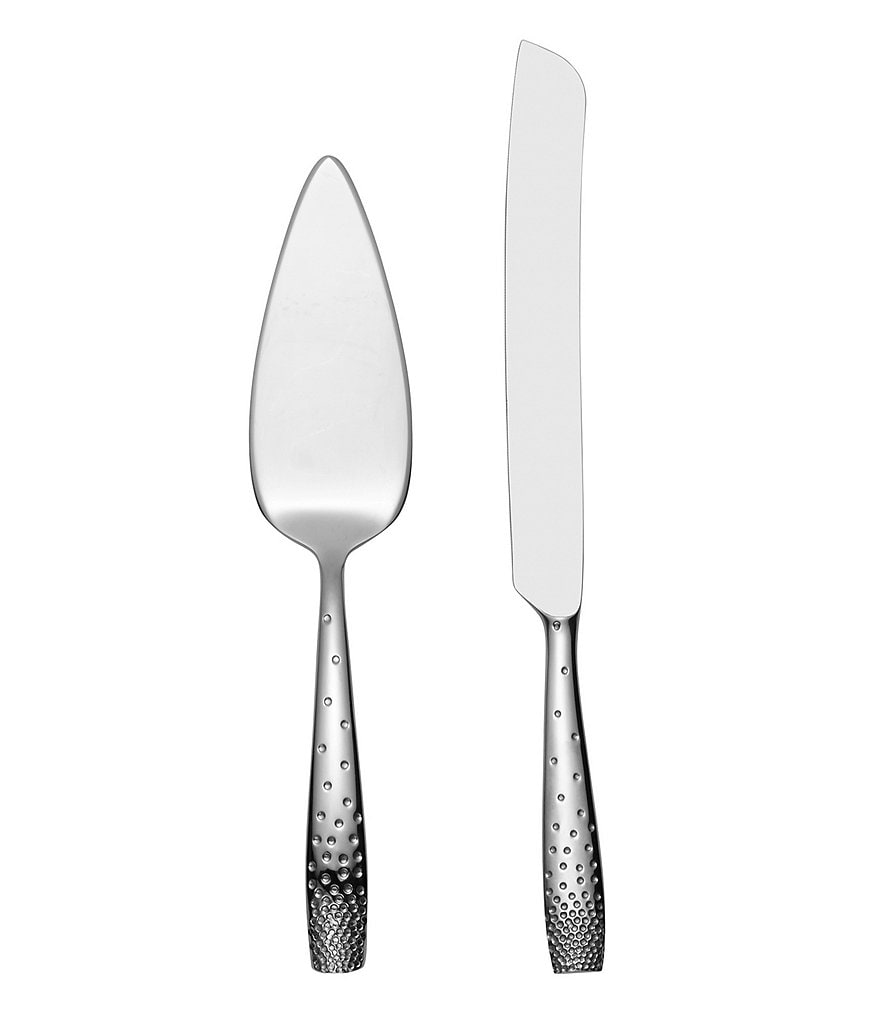 Nambe Dazzle Stainless Steel Knife & Cake Server Set