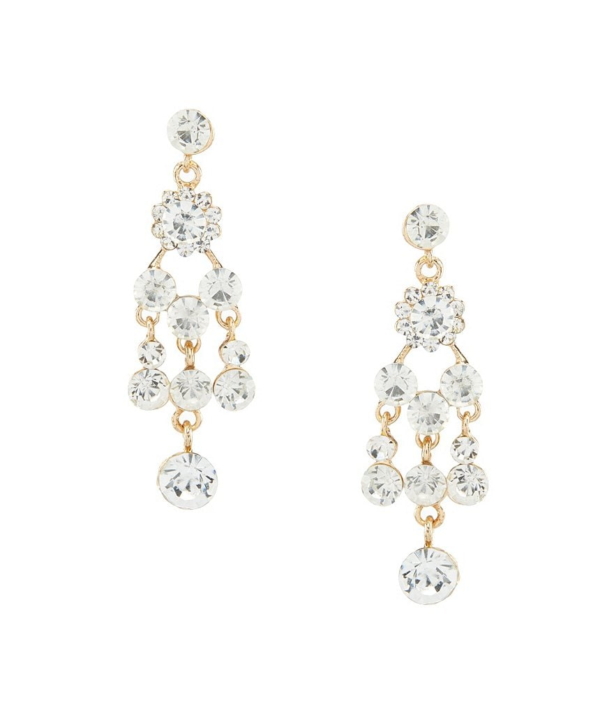 Natasha Accessories Dripping Chandelier Statement Earrings