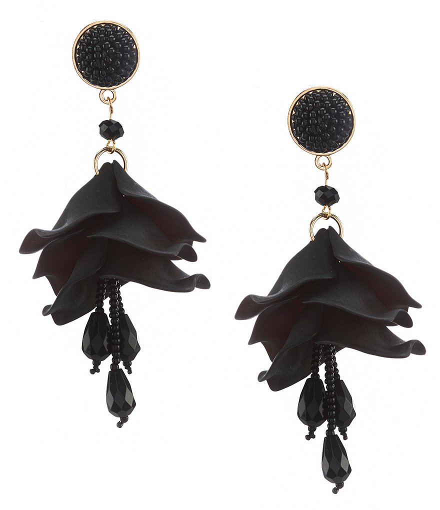 Natasha Accessories Oscar Tulip Drop Statement Earrings