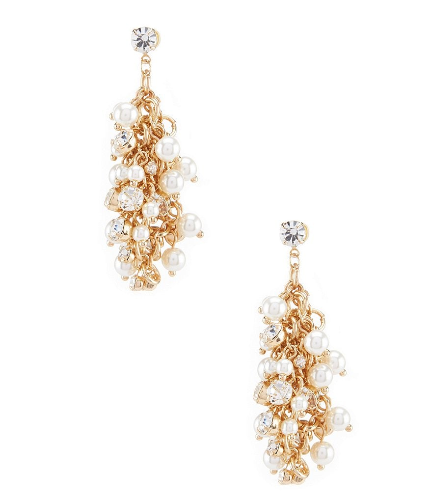 Natasha Accessories Pippa Shaky Faux-Pearl Statement Drop Earrings