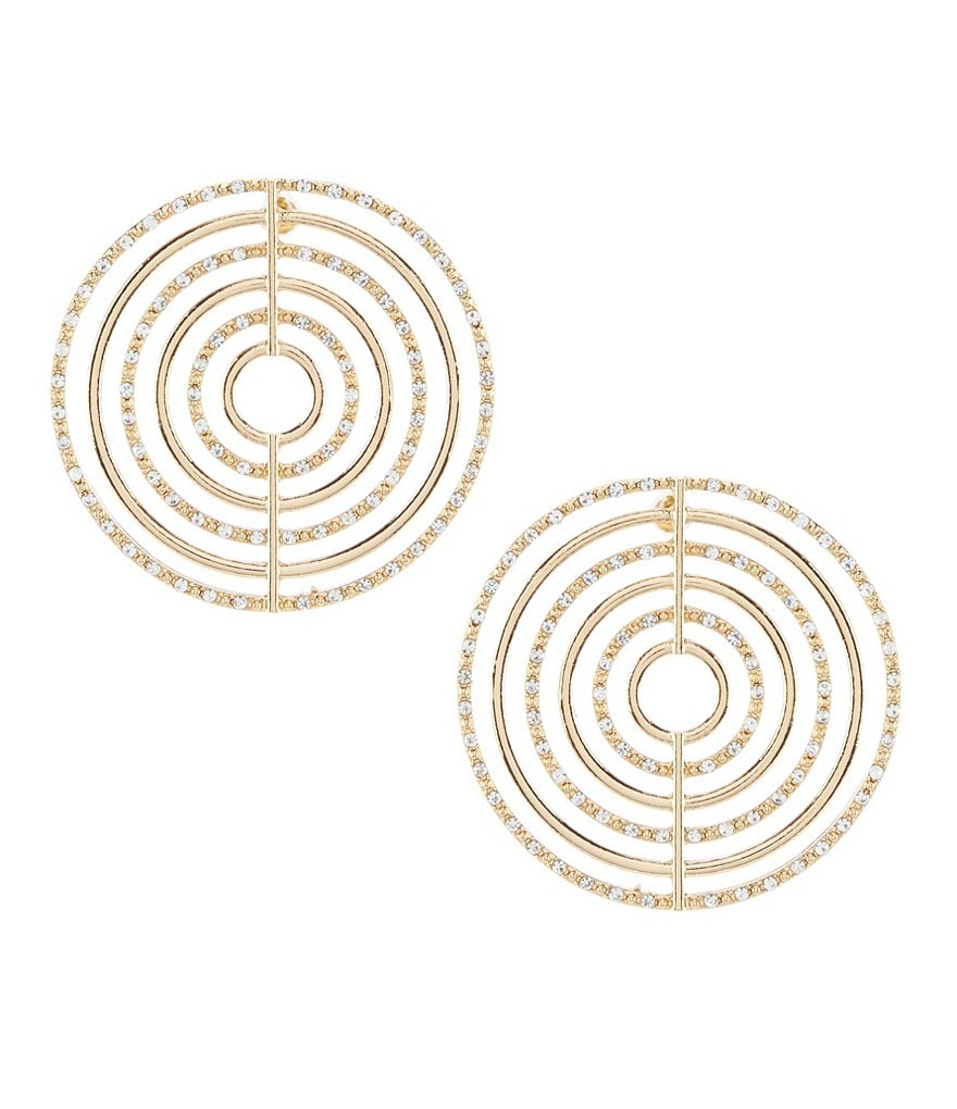 Natasha Accessories Updated Nick Hoop Earrings