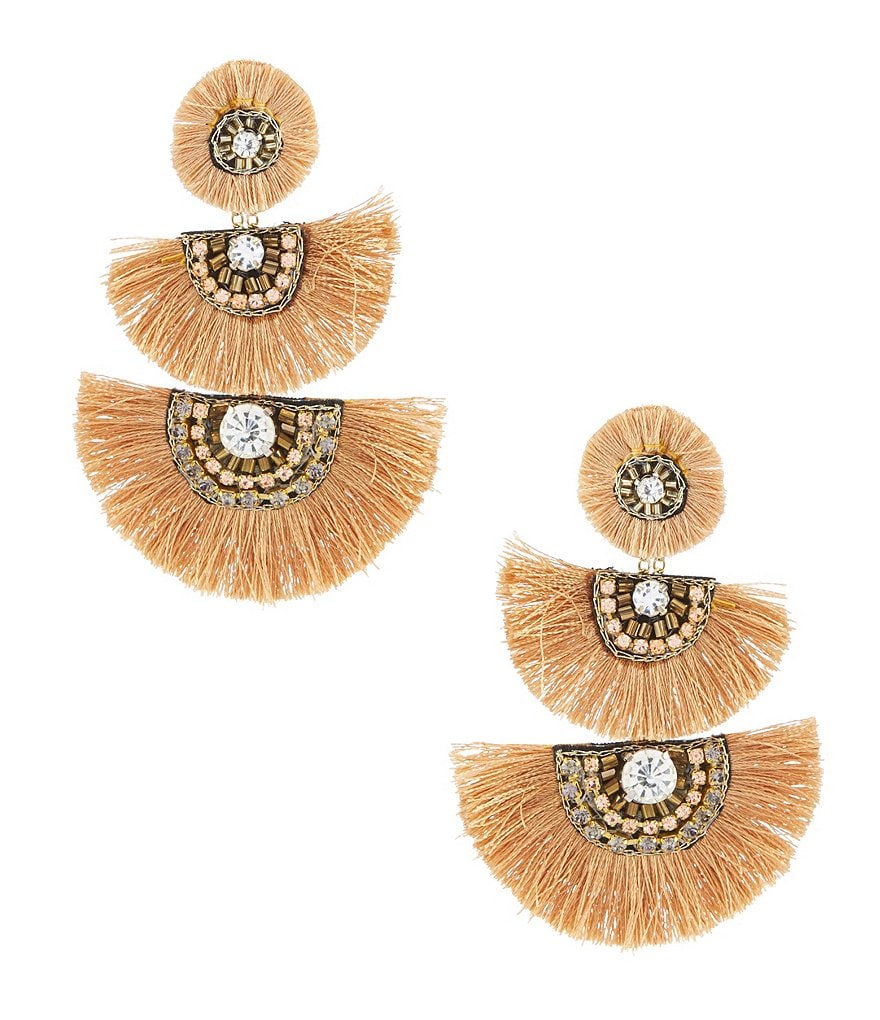 Natasha Tassel Fan Statement Earrings