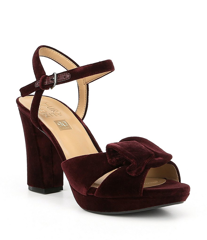 Naturalizer Adelle Velvet Block Heel Dress Sandals