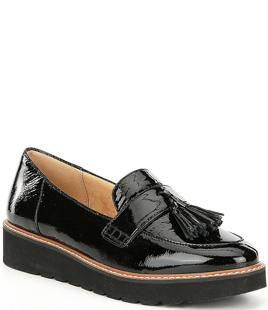 Naturalizer August Patent Leather Tassel Detail Slip-Ons
