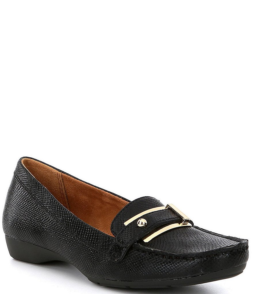 Naturalizer Gisella Snake Embossed Print Loafers