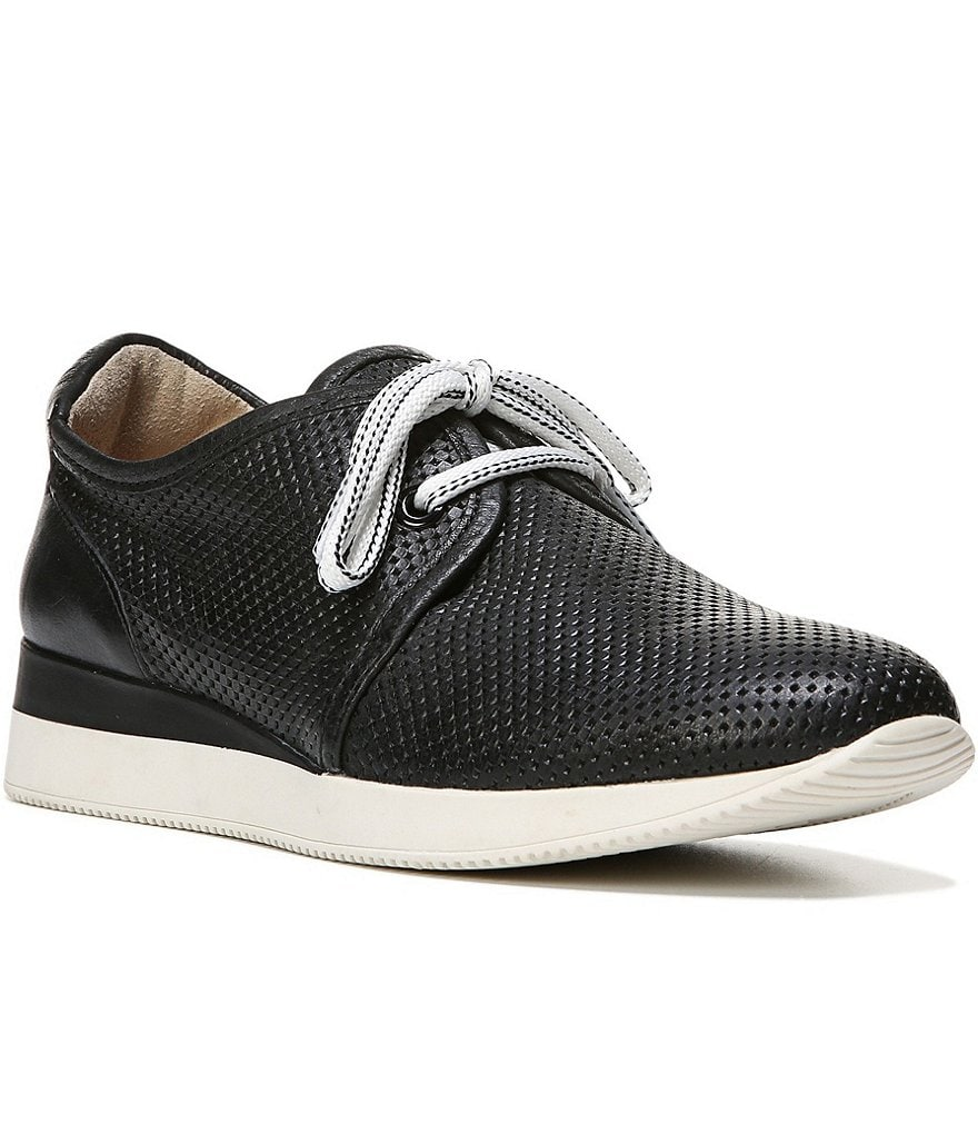 Naturalizer Jaque Perforated Leather Lace Up Sneakers