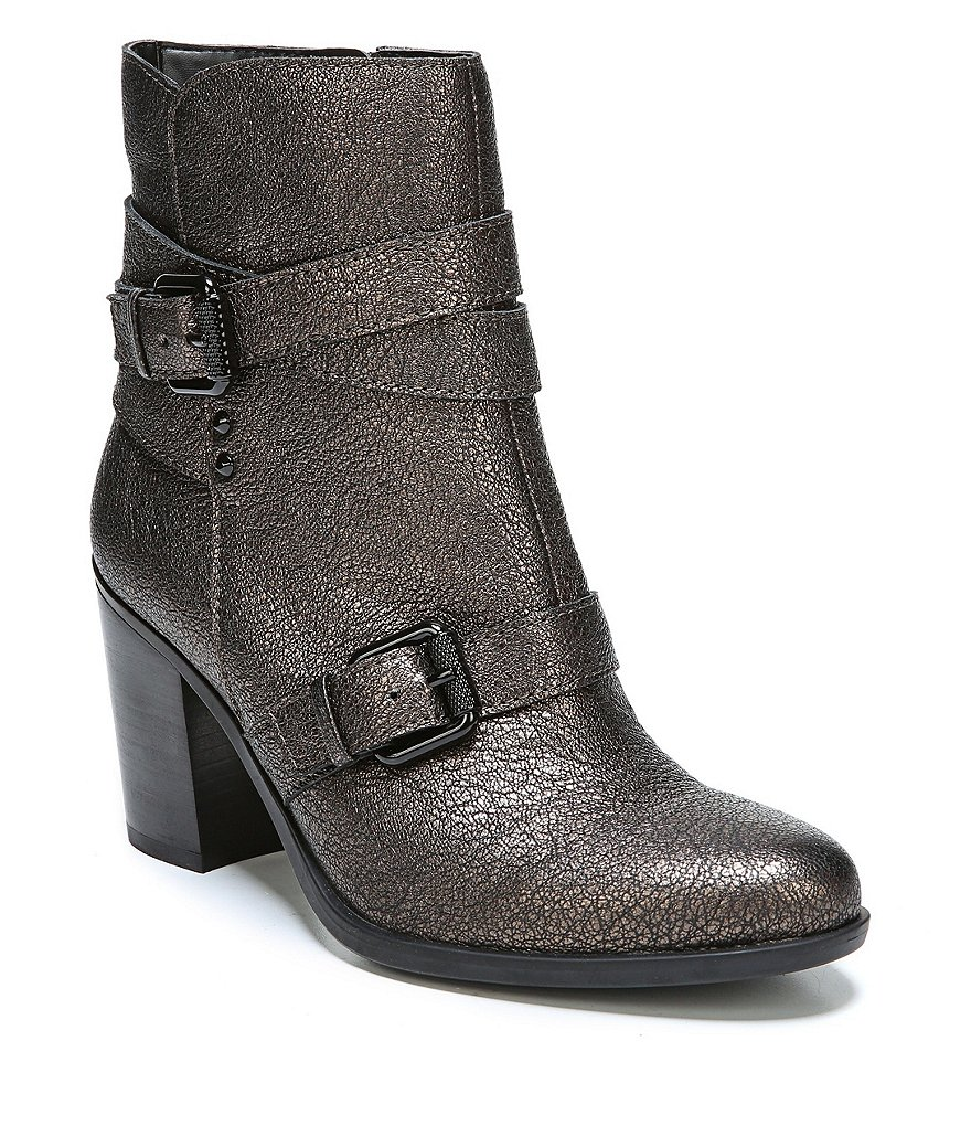 Naturalizer Karlie Leather Buckle Detail Booties