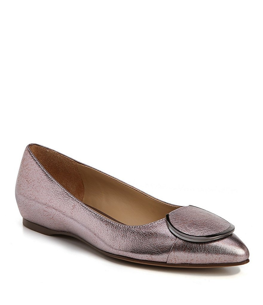 Naturalizer Stella Buckle Leather Flats