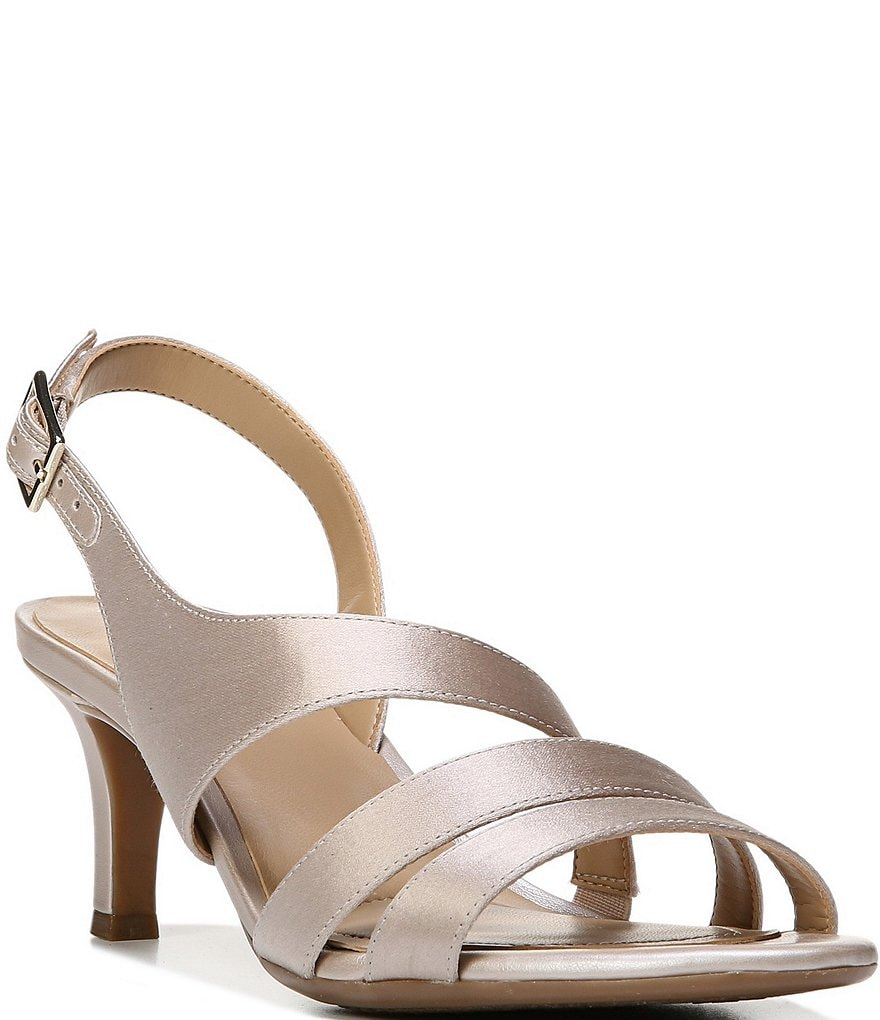 Naturalizer Taimi Metallic Satin Slingback Dress Sandals