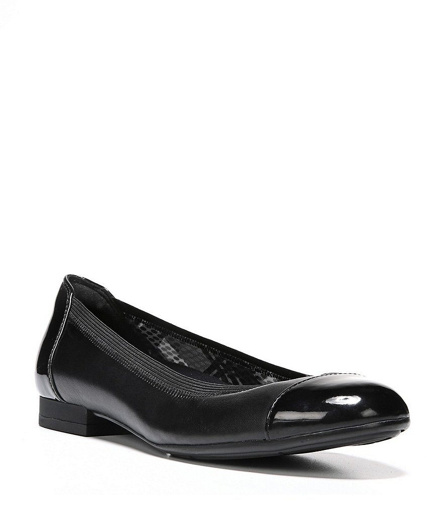 Naturalizer Therese Patent Leather Cap Toe Flats