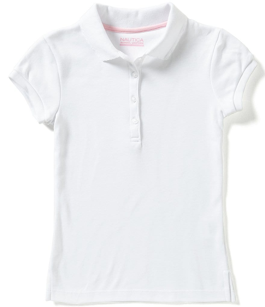 Nautica Big Girls 7 16 Short Sleeve Polo Shirt Dillards