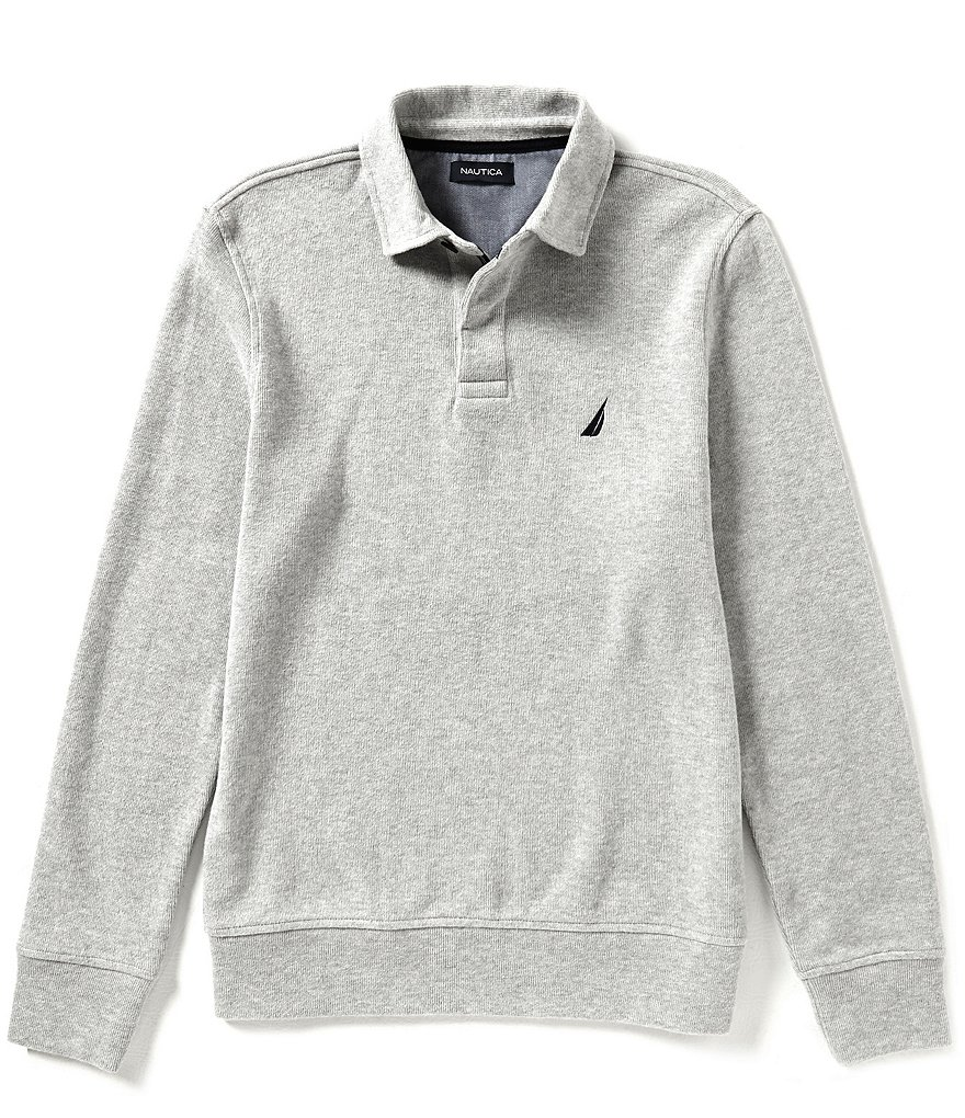 Nautica Classic-Fit Long-Sleeve Polo Shirt