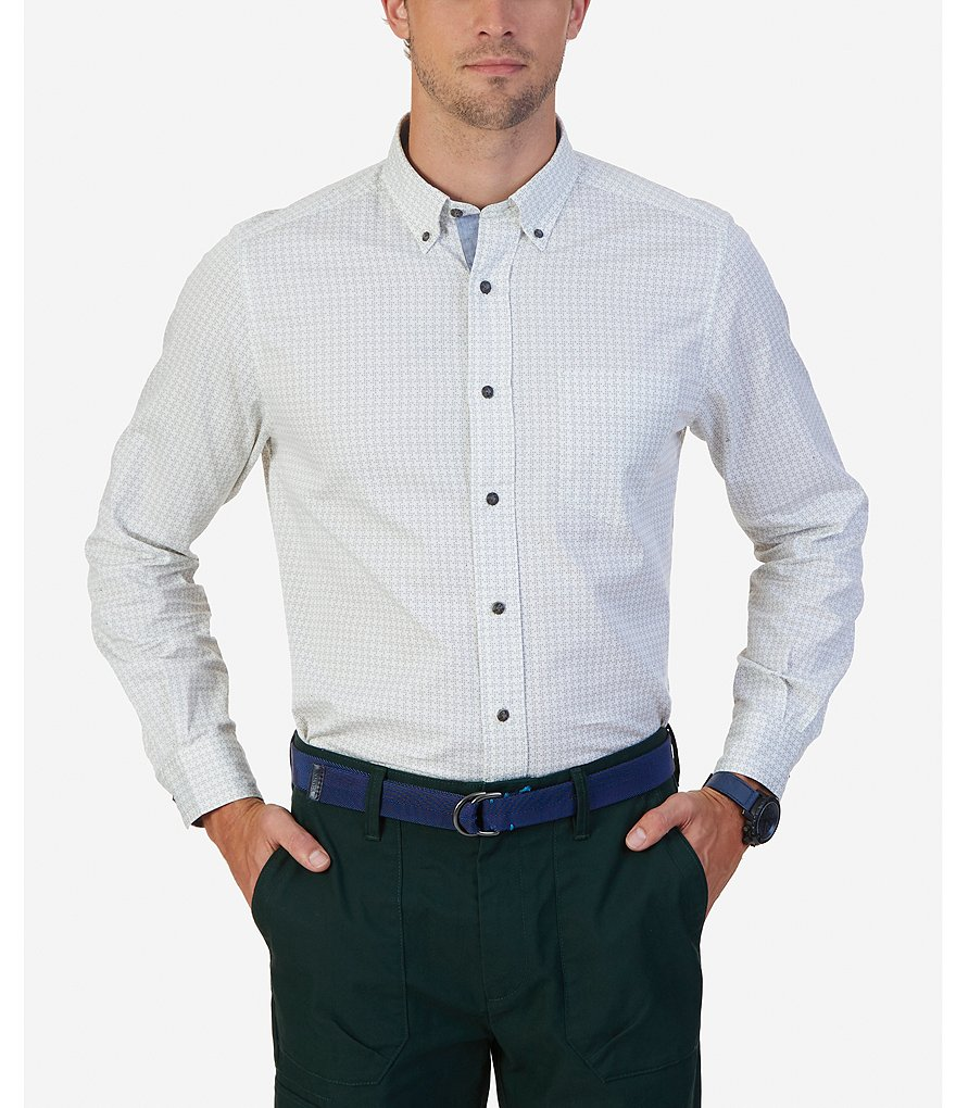 Nautica Classic-Fit Repeating Print Twill Shirt
