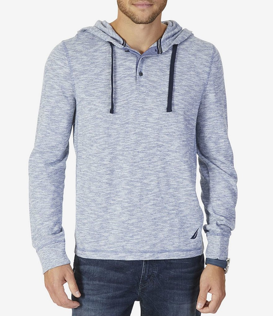 Nautica Melnage Slim Fit Button Long-Sleeve Hoodie
