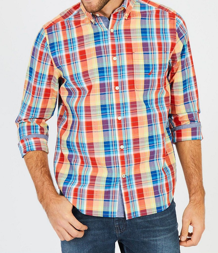 Nautica Multi Madras Plaid Classic Fit Shirt