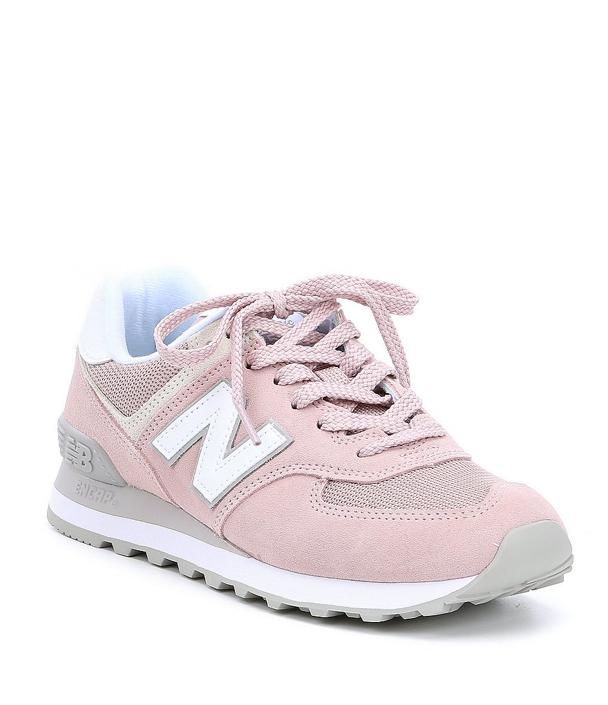 New Balance Women's 574 Suede and Mesh Lifestyle Shoes