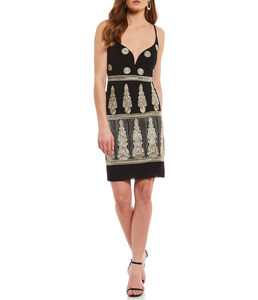 Nicole Miller Artelier Enchanted Embroidered Mini Dress