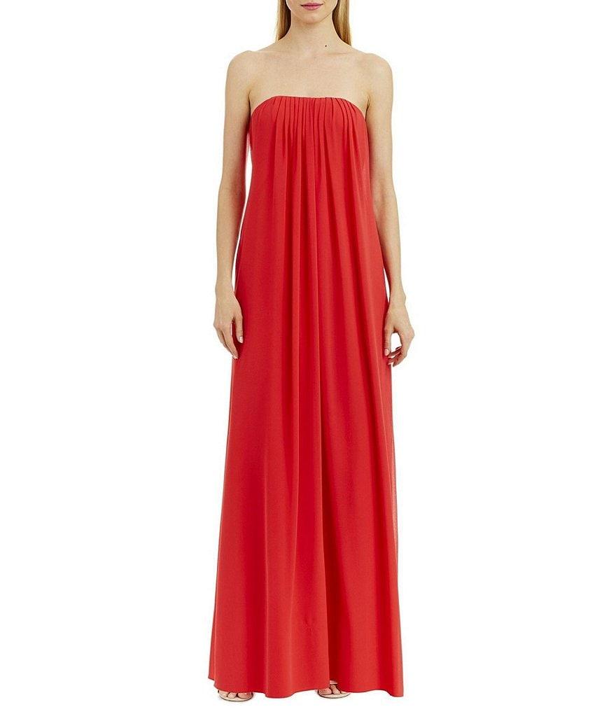 Nicole Miller New York Strapless Chiffon Dress | Dillards