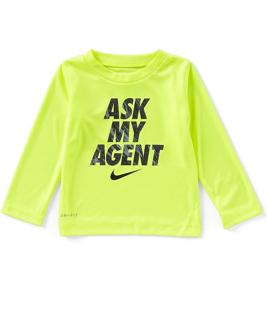 Nike Baby Boys 12-24 Months Ask My Agent Long-Sleeve Tee